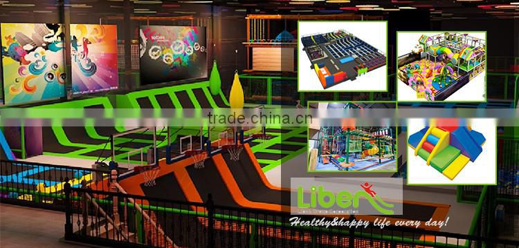 Newest Custom Design Children Indoor Games Trampoline Arena with Large Foam Pit and Ball Pool