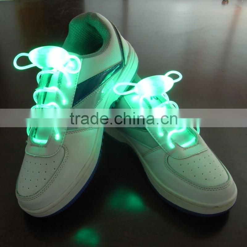 2016 New Arrival Light Up LED Shoelaces Fashion Flash Disco Party Glowing Night Sports Shoe Laces Shoe Strings Multicolors