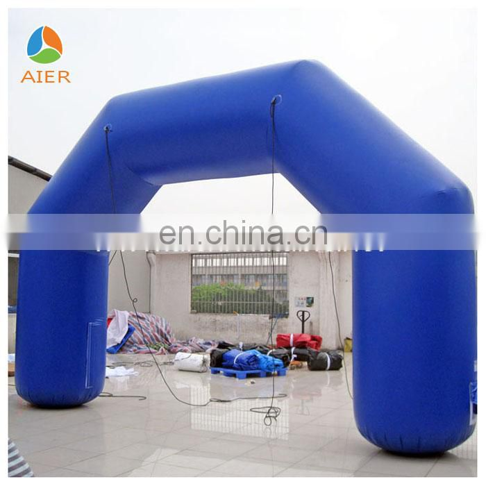 Coustom make bule inflatable finish line arch