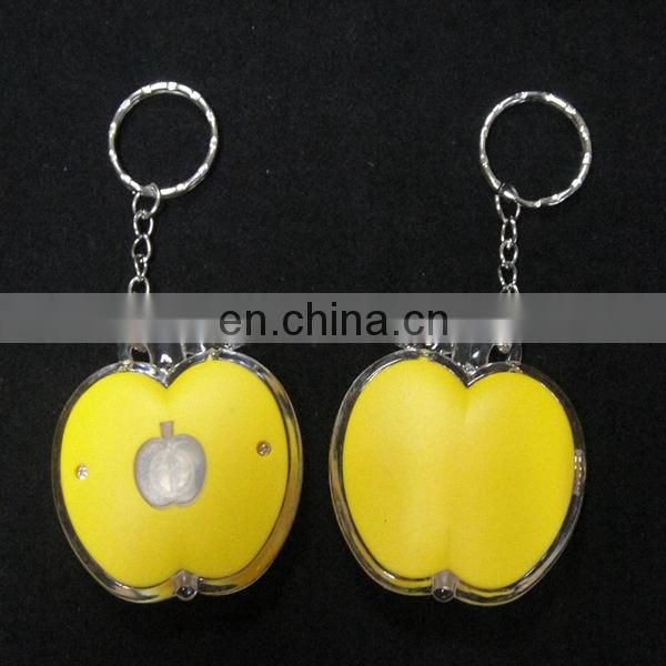Lovely glow keychain led apple keychain in the dark
