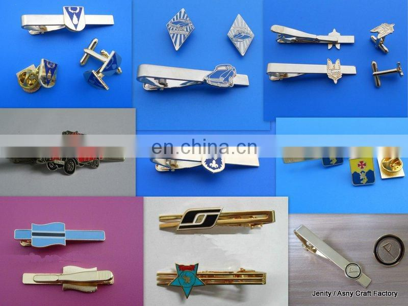 Wholesales Men's accessories multicolor blank custom laser or enraved logo tie clip