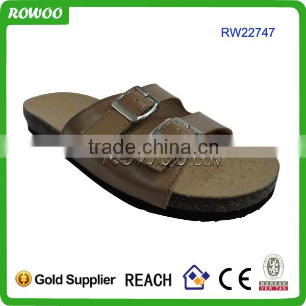 China manufacture Ladies comfort wooden slippers/cork slippers