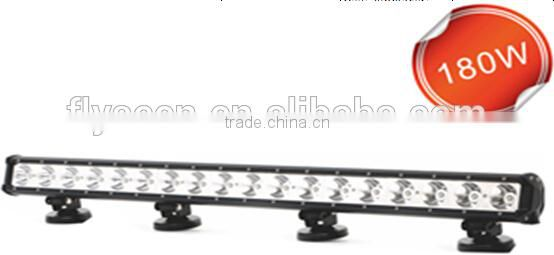 180w ATV Quad Row Led Light Bar 4x4 Auto Parts car led light bar for trucks SUV ATV Machinery Boat led off road light