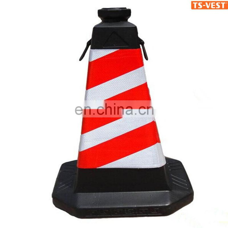 Traffic road safety cone road safety led reflective collapsible cone white led light traffic cone