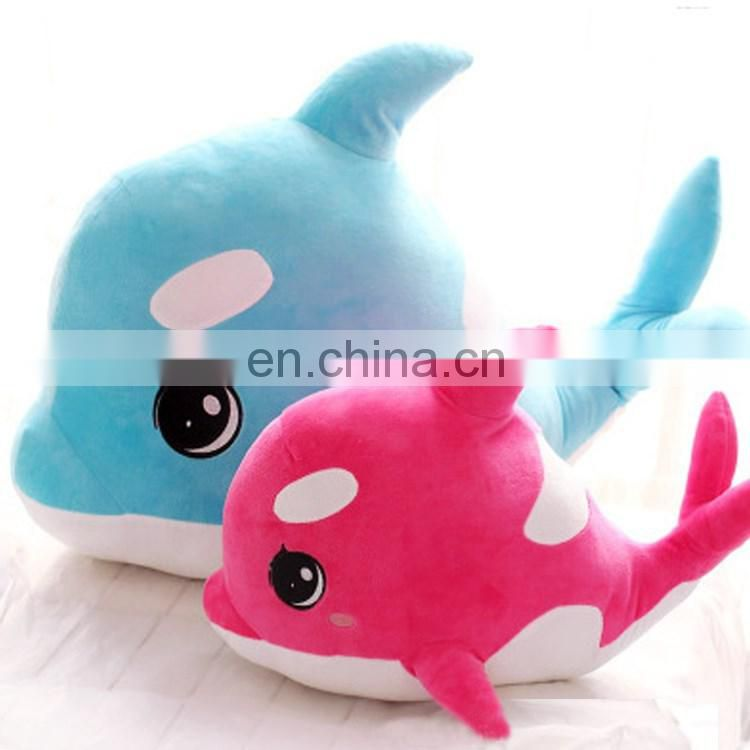 2016 plush fish toy for kids with various color and size wholesale
