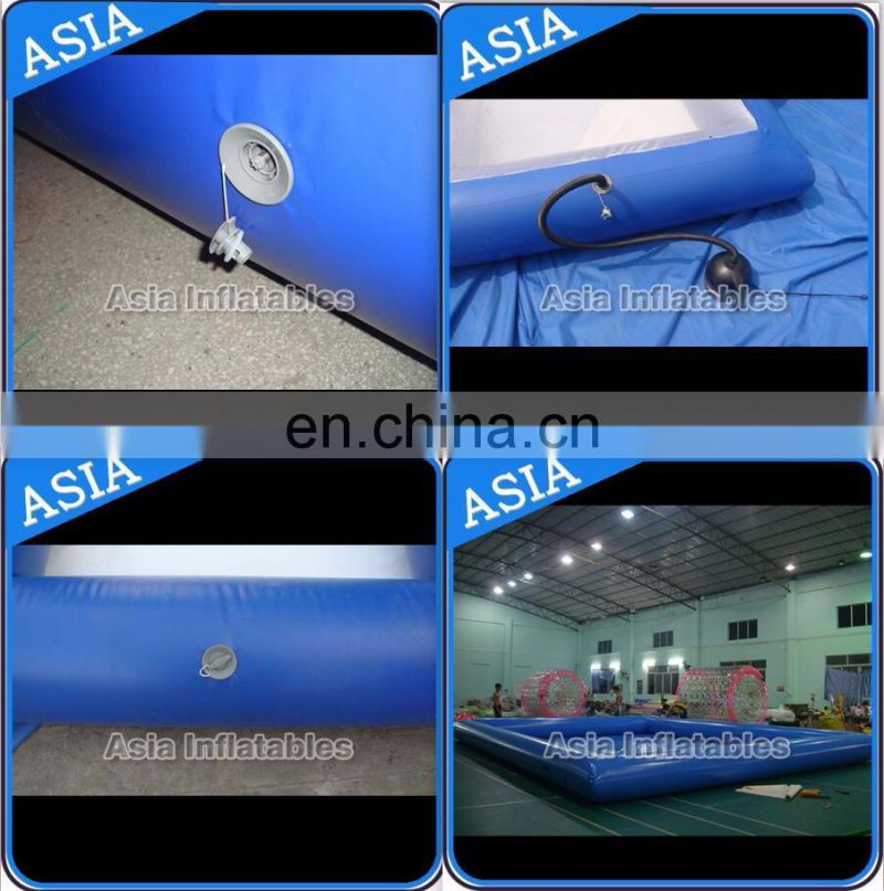 Giant 25m Rectangle inflatable swimming pool with slide for equipment water park