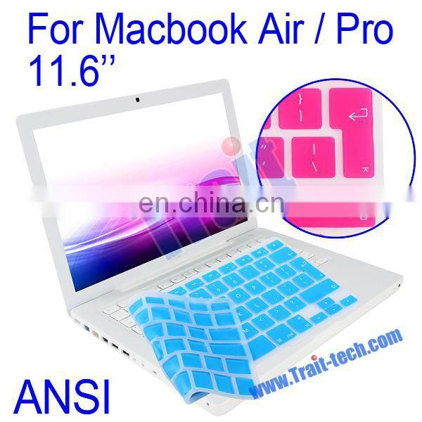 High Quality Clear Crystal Guard EU/UK Protective Film Silicone Keyboard Cover for Macbook Air/Pro 11.6""