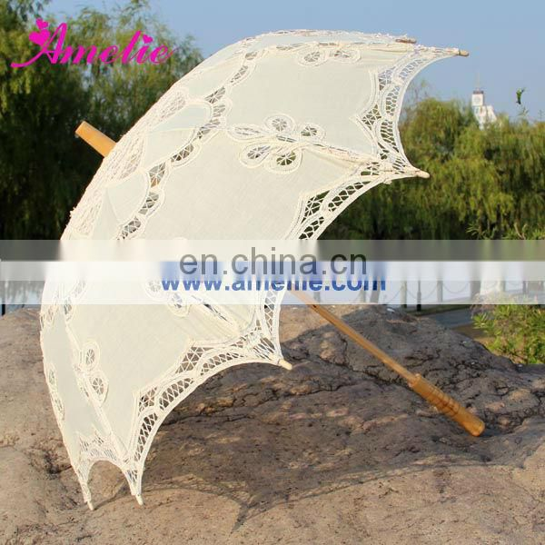 With 5years Quality Warrantee Battenburg Lace Parasol Wedding Umbrella