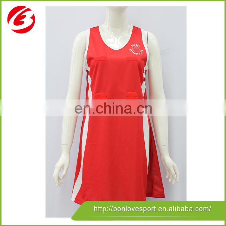 Best imported ink lady 's netball dress skirt uniform jersey