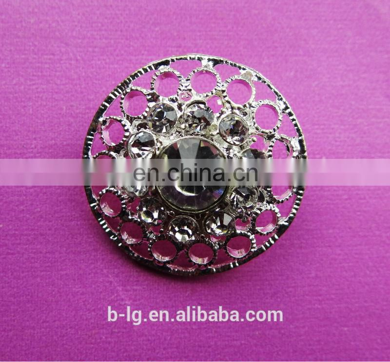 Bailange fashion rhinestone clothing accessories welding on coat button