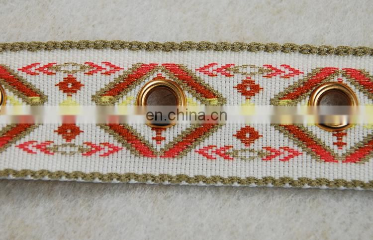New fashion customized pattern eyelet ribbon