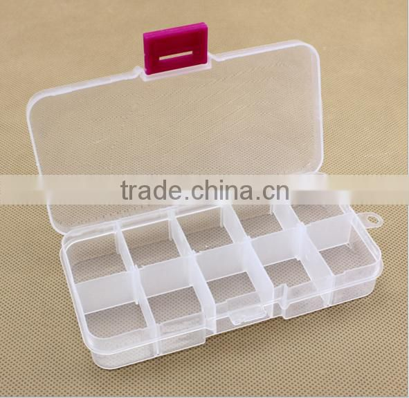 10 Grid Box Plastic Case Craft Jewelry Display Beads Storage Cover Component Boxes