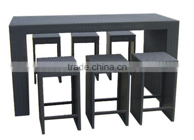 Synthetic Rattan Table And 6 Chairs Garden Furniture Rattan