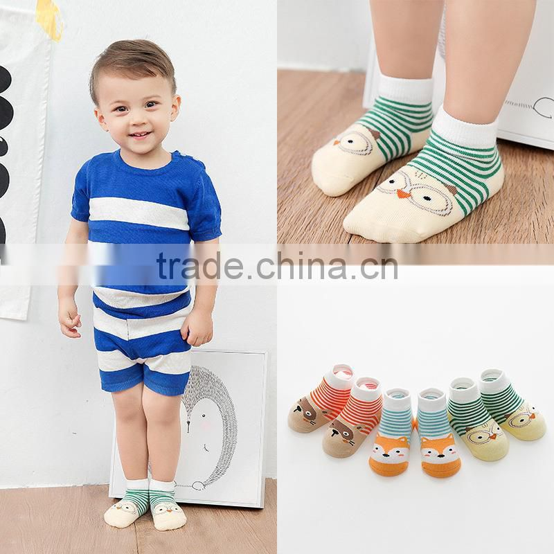 Cotton Socks Unisex Toddler Socks Floor Sock Infant Boys Girls Cat Skid Resistance Leg Warmers