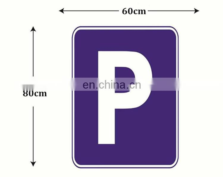 China Manufacturer Sticker Aluminum Plate And Stand LED Traffic Safety Sign