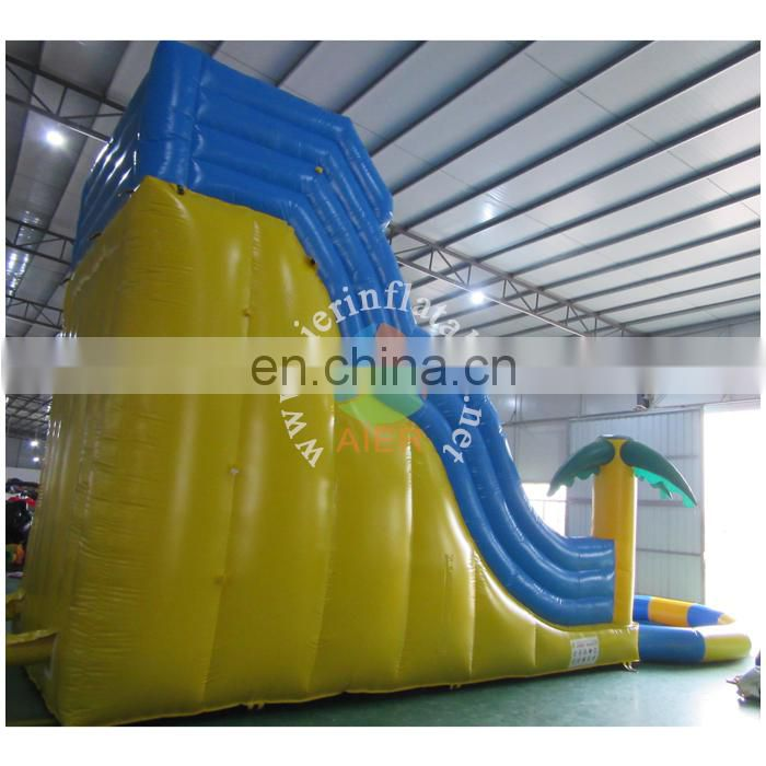 cheap outdoor giant inflatable water slide pool slide for adult and kids
