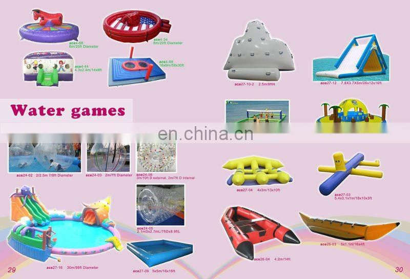 Inflatable water Obstacle course, inflatable water game in pool