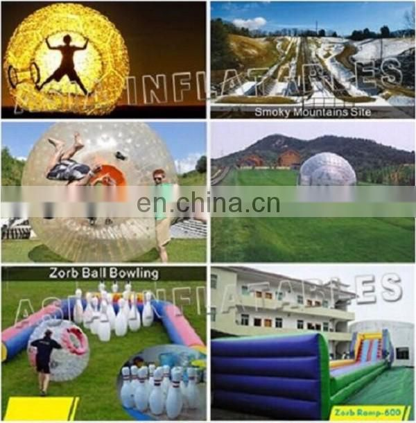 Inflatable zorb ball race track for sale go kart racing track for sporting events