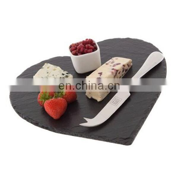 Heart shape black slate board for cook