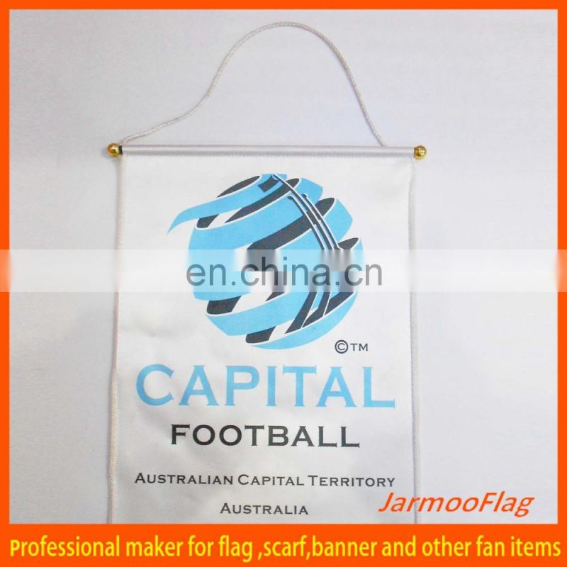welcomed custom football soccer mini exchange flag