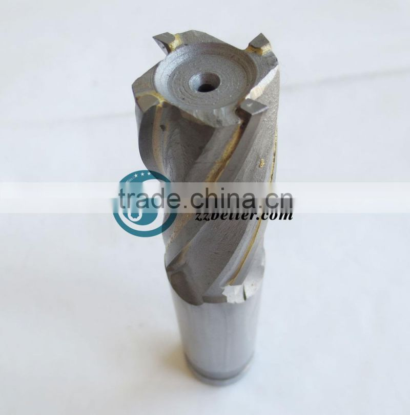 ALTiN Coated deep groove end mill, tungsten solid brazed carbide end mill