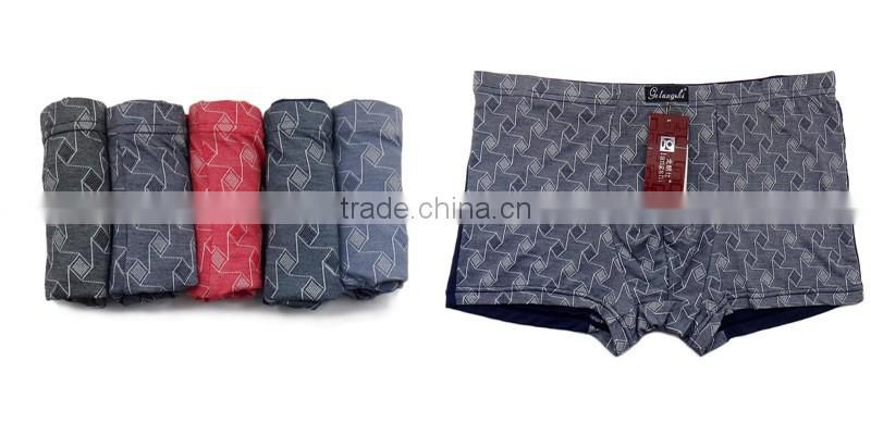 Free Size MenUnderwear Sexy Printing Bamboo Fabric Men Shorts Cheap Men Boxers