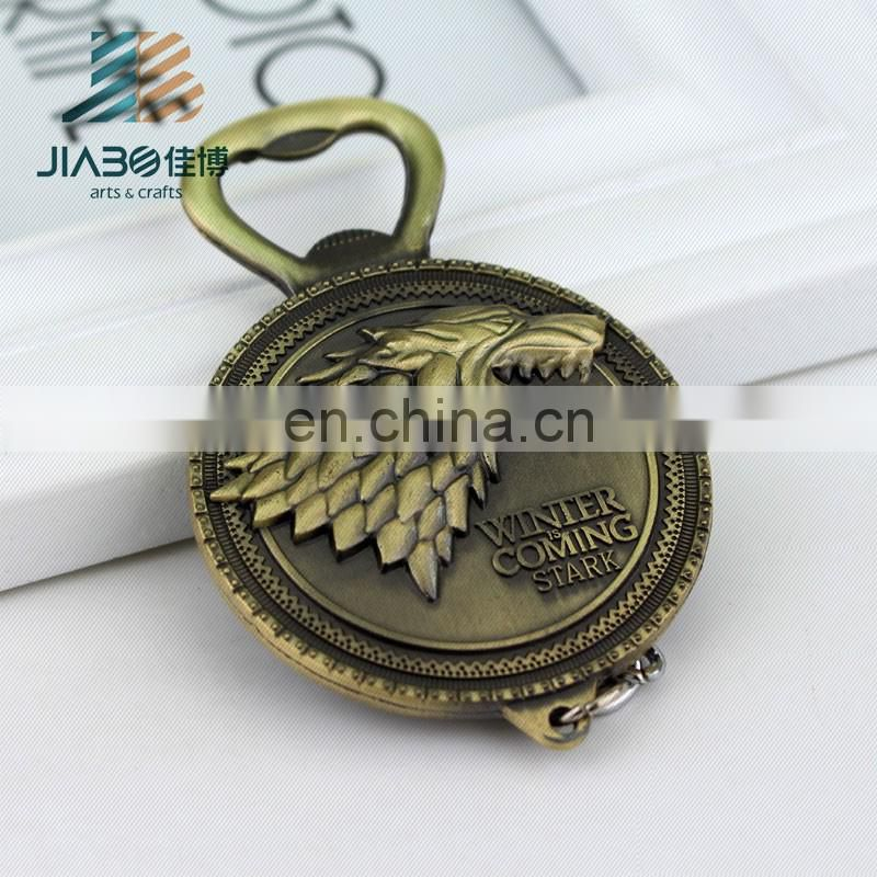 Jiabo custom high quality metal dragon logo bottle opener