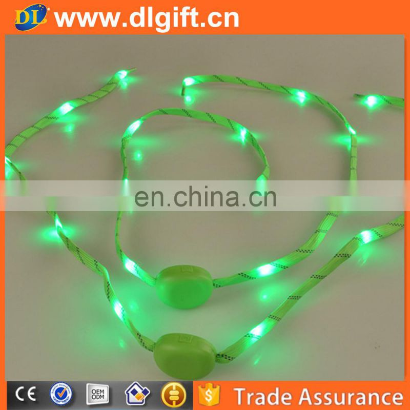 America Wholesale cute led flashing shoelace for Christmas gift