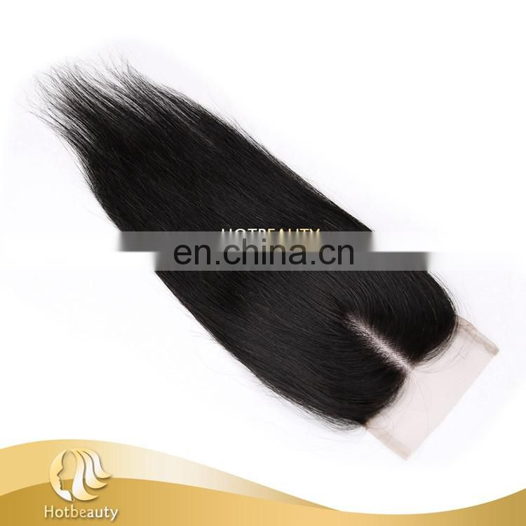 free part design remy hair lace closure smooth straight 50g-65g per bundle