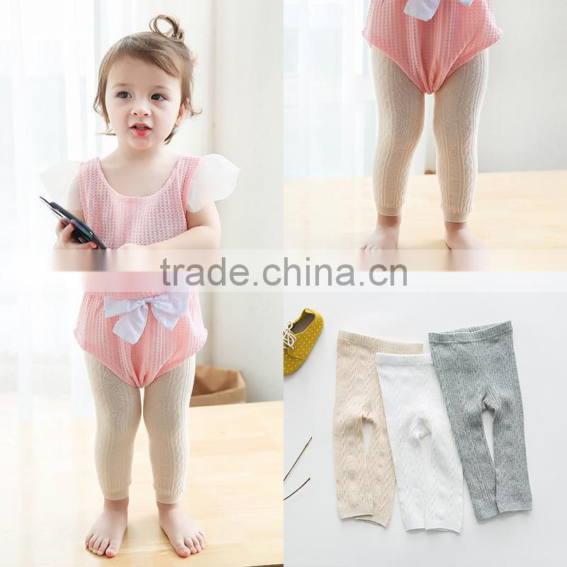 2017 ring cutout mesh legging child ankle length big pp trousers baby pantyhose free shipping high quality