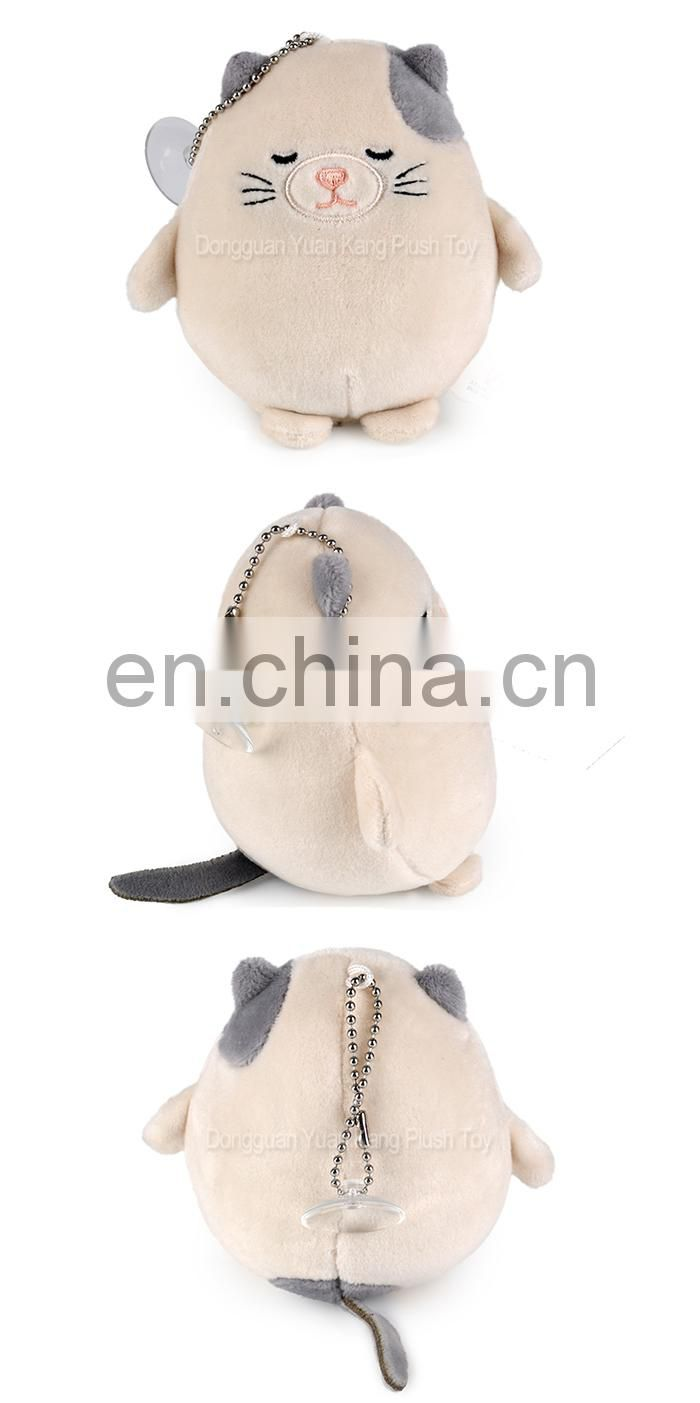OEM Custom Manufacturers Cheap Plush Keychain Factory Super Soft Stuffed Animal Cat Keychain