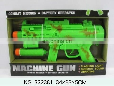 black b/o gun with kids sound vibrating gun