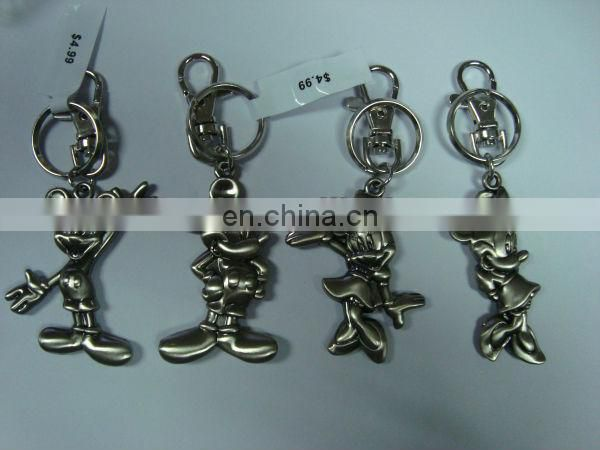 fully shiny stone metal key chain for promotion gift