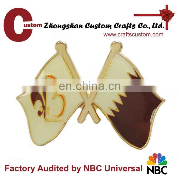 Custom Design OEM Lapel Pin With Gold plating
