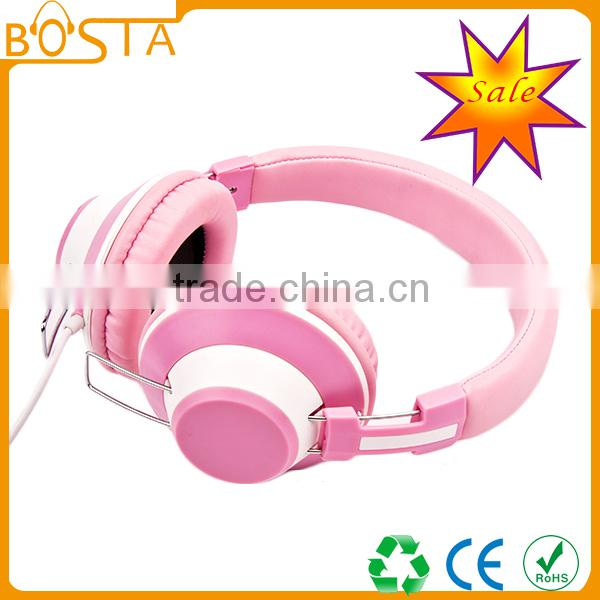 Best quality promotional stereo industrial noise cancelling creative wholesale fancy design wired headphones