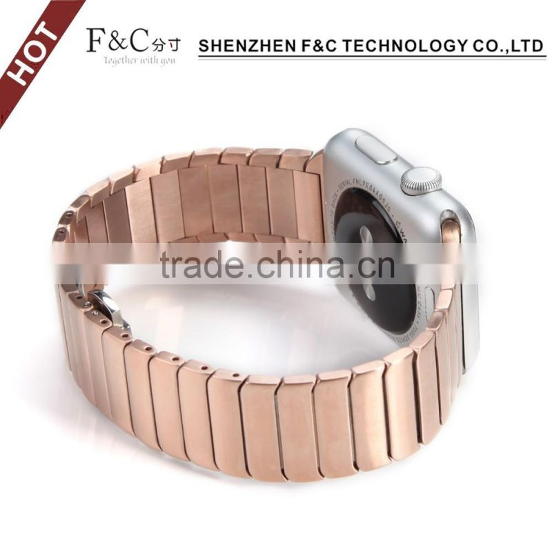 42mm Stainless Steel for iWatch Band Strap for Apple watch, Polishing Metal Watchband with Butterfly Buckle & Quality Connector
