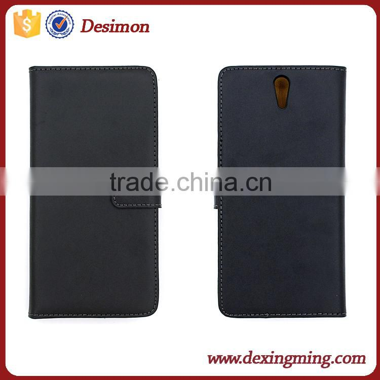 Desimon OEM Custom Leather flip cover case for Sony Xperia C5 Ultra