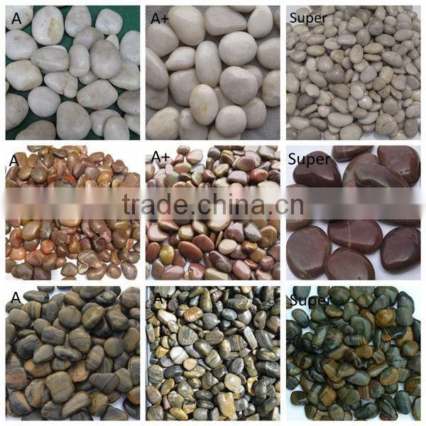 Mixed Pebbles and Stones River Stone For Walkway Pavers