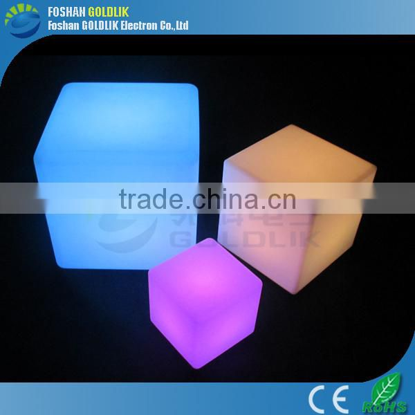 Outdoor events decoration led PE cubes with RGB color changing GKC-040RT