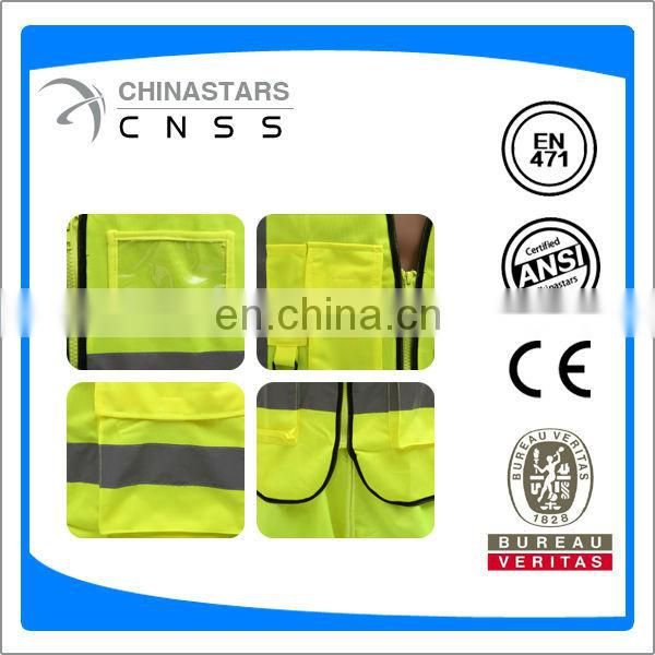EN20471 safety vest with ID pocket