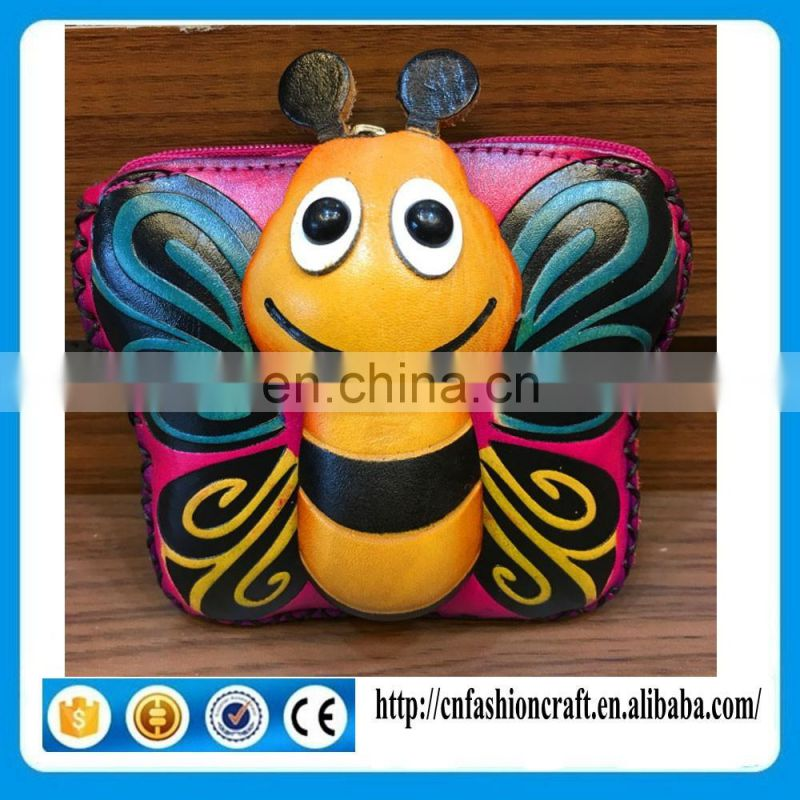 Butterfly shape Special design beautiful leather coin wallet pocket coin purse