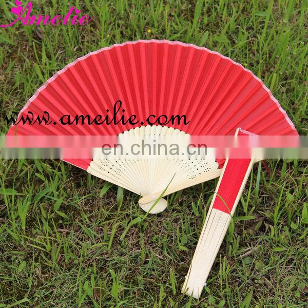 AP03168 Paper With Printing Hand Fan Wedding Bamboo