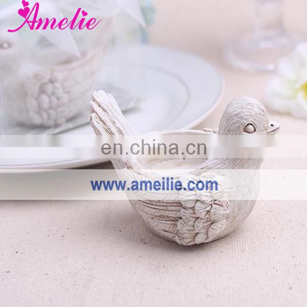 AN003 New Products 2014 Love Bird Resin Candle Holder
