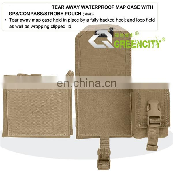 Tear Away Waterproof Map Case with GPS Compass Strobe Pouch