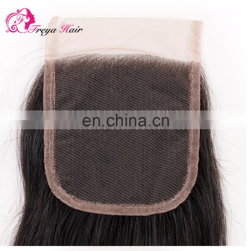 Qingdao hair factory Hot selling top brazilian hair lace closure with baby hair