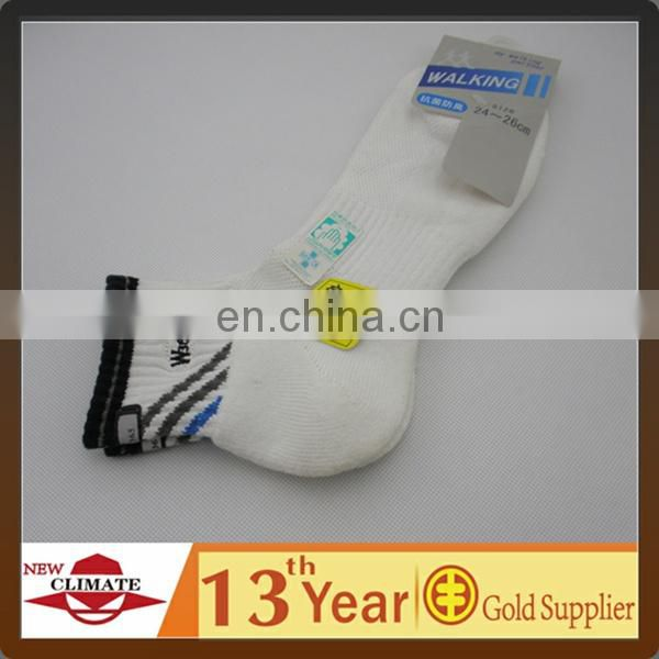 Knitted antibacterial breathable cotton socks for sports,new design