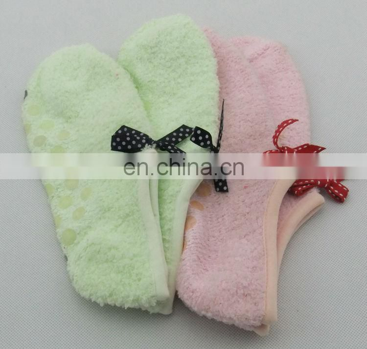 Women Lovely Indoor Home Socks With Candy Color