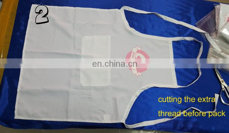 WD-1512-3 promotional apron polyester material with custom logo