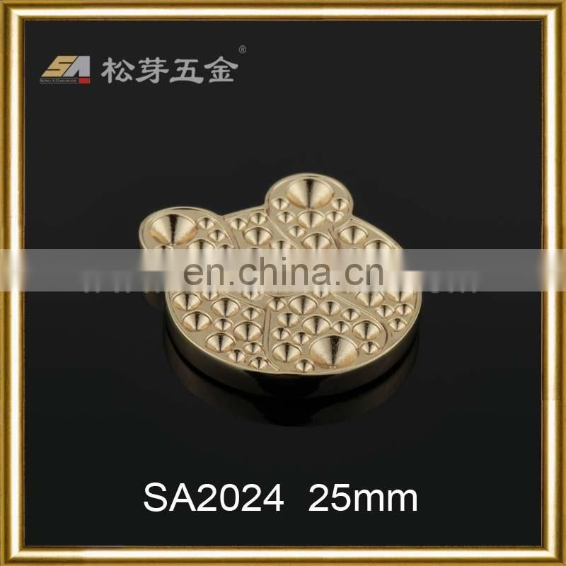 Metal decoration magnet button for handbag