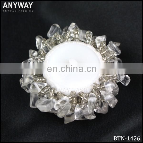 Lucency Faux rhinestone Beaded Button Aurora Borealis Button for wedding dress